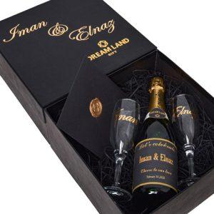 پکیج شامپاین و جام و کارت(سایز متوسط)