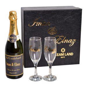 پکیج شامپاین و جام (سایز متوسط)