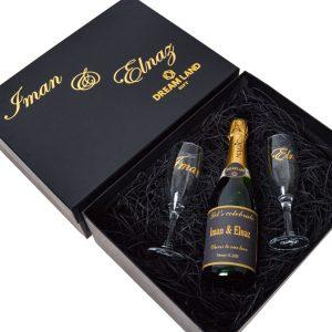 پکیج شامپاین و جام (سایز بزرگ)